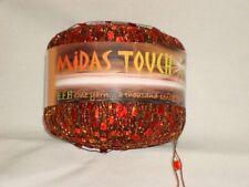 Fff Midas Touch Glitter Ladder Yarn (color #2) ~ Orange Red/Gold w/Gold Metallic