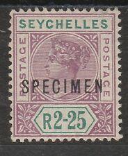 SEYCHELLES 1897 QV 2R25 SPECIMEN