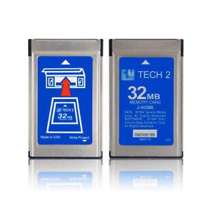 GM Tech2 Tech 2 32MB Cards Card SAAB 148.000 English UK STOCK FREE FAST POST