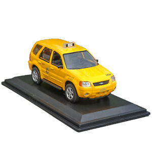 1:43 Ford Escape Hybird Chicago Taxi Cab 2005 Model Car Diecast Toy Collection