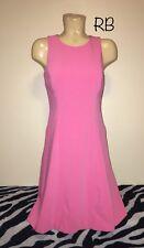 "White House Black Market Pink A Line Sleeveless Dress Size 4 17"" Chest"