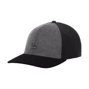 Mens Billabong Blocker Black Stretch Flex Cap. Size S - M. NWT, RRP $29.99.