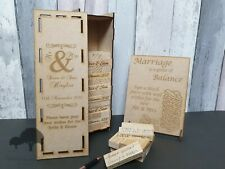 Wedding Guestbook game, 54, 78, 108 or 153 blocks in a unique personalised box.
