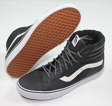 Vans SK8 Hi Reissue Leather Fleece Black Shoes VN-0ZA0EU1 New Size 11.5