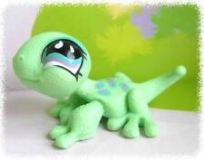 LITTLEST PET SHOP(274)--Green Gecko Purple Spoted #751