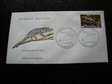 MADAGASCAR - enveloppe 15/6/73 - cameleon nasutus male - yt n° 526 - (cy7)(A)