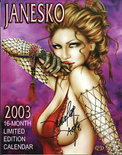 Janesko 2003 16 Month Limited Edition CALENDAR - HAND SIGNED by Jennifer Janesko