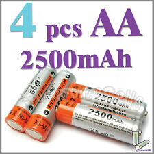 4 AA 2500mAh Ni-MH 1.2V rechargeable battery cell RC