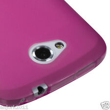 HTC ONE VX AT&T SOFT CANDY CASE GEL SKIN COVER FROST TRANSPARENT HOT PINK