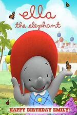 Ella the Elephant Personalized Custom Banner 24x36 Home Decor Poster - Glossy