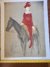 Pablo Picasso Vintage Poster Clown Joker Horse fr Lithograph 1950 A.M. Studios