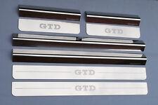 VW Volkswagen Golf Mk6 GTD Upper Lower Chrome Door Sill Protectors Kick Plates