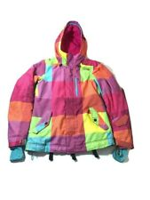 Oneil Escape Series Womens XS Jacket Ski Snowboard Hooded Coat Neon Pink 2 Layer