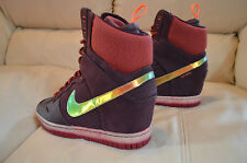 New Nike Womens Dunk Sky Hi SneakerBoot 2.0 Hidden Wedge Shoes 684954-600 sz 8.5