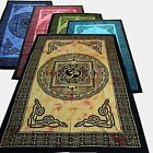 Couvre-lit tissu déco Kalachakra d'Inde tapisserie Décoration murale UNITAIRE