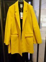 BNWT ZARA 51% Wool Lapel Coat Jacket Blazer Size XS S M L XL 1255/238