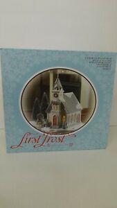 Dept 56 First Frost Cedar Isles Church 4054979 MIP 4 Piece Set