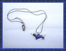 Lindo Rhinestone Azul y Plata Perro Salchicha collar, perro, cachorro, Joyería, Unisex, Lindo