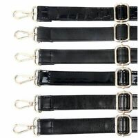 Long Adjustable Black Bag Strap DIY Replacement PU Leather Shoulder Bags Straps,