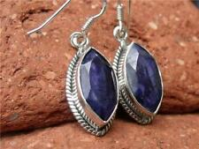 Unbranded Hook Sapphire Sterling Silver Fine Earrings