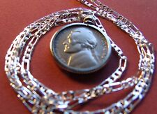 """1943 S Silver War Nickel Pendant on a 26"""" 925 Silver Link Style Chain Necklace"""