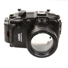 40M 130ft Waterproof Underwater Housing Case For Sony A5000 NEX-3N 16-50mm Lens