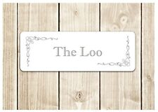 'THE LOO' Door Sign Metal Plaque for Toilet or Bathroom (plus own text option)