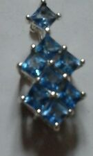 Cerulean Topaz pendant in Sterling Silver 1.56cts