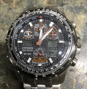 Citizen Eco-Drive Radio Controlled Skyhawk AT Watch