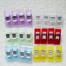 CH 10Pcs Lots Fixed Plastic Clips Fabric Quilting Craft Sewing Knitting Crochet