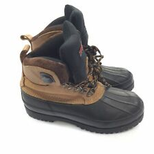 Northwest Territory Mens SIZE 9 Brown Black Insulated Leather Work Hiking Boots