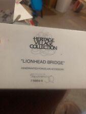 """Dept 56 """"Lionhead Bridge"""" Porcelain Accessory #5864-5"""