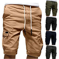 Mens Casual Jogger Shorts Sport Pants Cargo Military Combat Fitness Gym Trousers