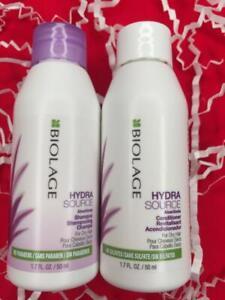 MATRIX BIOLAGE HydraSource Shampoo+Conditioner Set 1.7oz/50mL Each - FREE SHIP!