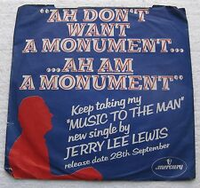 Jerry Lee Lewis 1978 SUN 45 rpm Record in Sleeve SAVE THE LAST DANCE/AM I TO BE