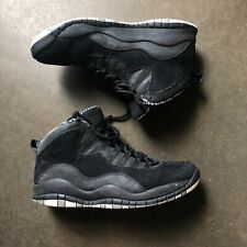 Men's Nike 2012 Air Jordan Retro 10 (X) Stealth Black White Sz 9.5 (310805-003)