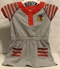 NHL Chicago Blackhawks Girls Toddler Gray/Red Dress (3T/2T/18M)