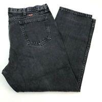 Rustler Denim Jeans Mens 42X30 Black Straight Leg Regular Fit Cotton 5 Pockets