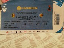 Ticket TOP : Belgique - Écosse Scotland 11-06-2019 Qualifications Euro 2020