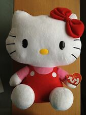 "TY HELLO KITTY LARGE RED CLASSIC BUDDY 15""  INCH  BRAND NEW"