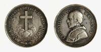 r37_299) PAPA LEONE XIII ANNO X GIUBILEO SACERDOTALE 1888 MEDAGLIA AR  D = 31 mm
