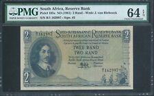South Africa 2 Rand P105a ND (1961) PMG 64 EPQ Very rare FIRST Prefix B/1