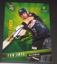 Aaron Finch  (Australia) signed International T20  Cricket Card + COA