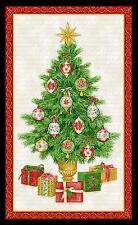 "23"" Fabric Panel - Henry Glass Christmas Elegance Traditional Tree Wallhanging"