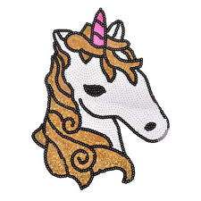 Horse Sequined Patches for Clothing T Shirt Badge DIY Motif Applique BH
