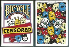 1 DECK Bicycle Censored playing cards FREE USA SHIPPING