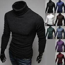 Hommes New Fashion Knit Sweater Chemises Chandail à col roulé Pola Top F272 S/M