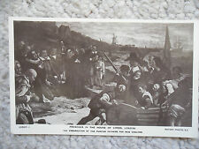 FRESCOES IN THE HOUSE OF LORDS LONDON - PURITAN FATHERS NEW ENGLAND POSTCARD