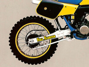 Full Floater Sticker x 2 - Suzuki RM, PE, DR, 125, 250 1981-83 version non oem