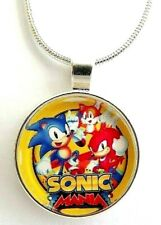 SONIC THE HEDGE HOG NECKLACE 18 INCH SILVER CHAIN 3-6 YEAR BIRTHDAY GIFT BOXED